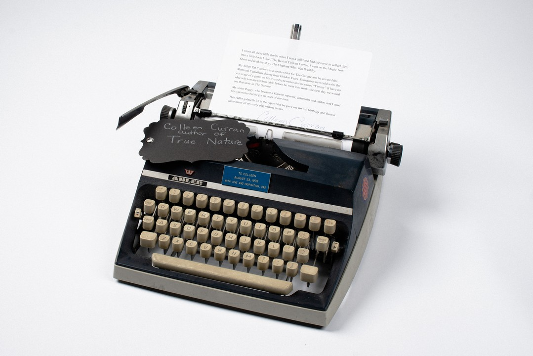 Author Colleen Curran's childhood typewriter
